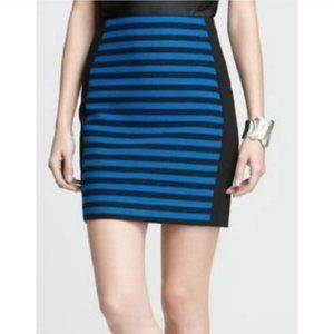 ANN TAYLOR Striped Color Block Pencil Skirt
